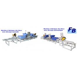 LIGNE DE FABRICATION DE BLOCS EN BOIS COMPRESSE